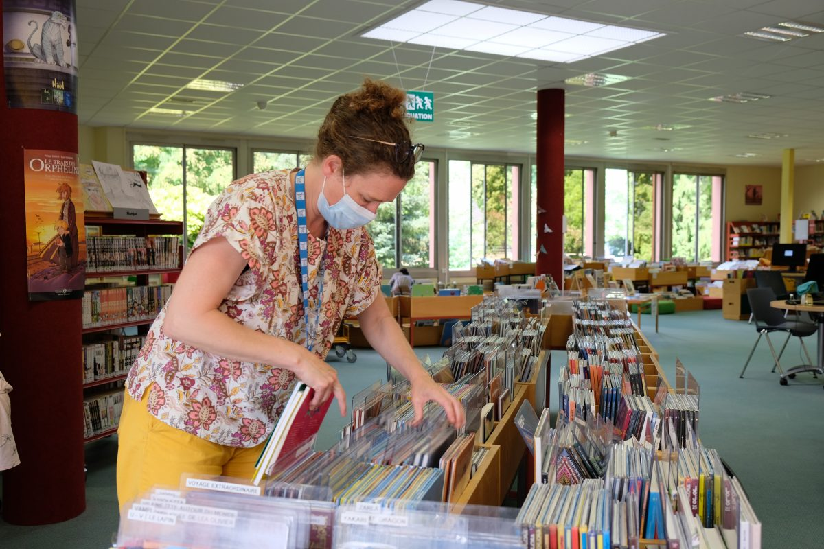 Dans le quotidien d'Aude Girardeau, bibliothécaire à la médiathèque de Joué-lès-Tours