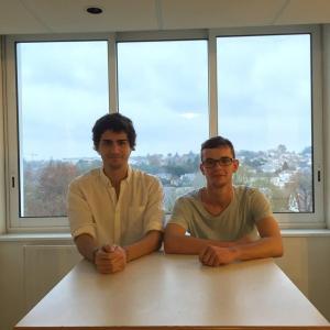 Dylan Mas et Alexis Gautron ont crée le premier site internet destiné aux étudiants de Tours.