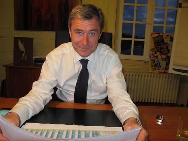 Philippe Briand, pressenti pour prendre la tête de l'agglomération tourangelle.
