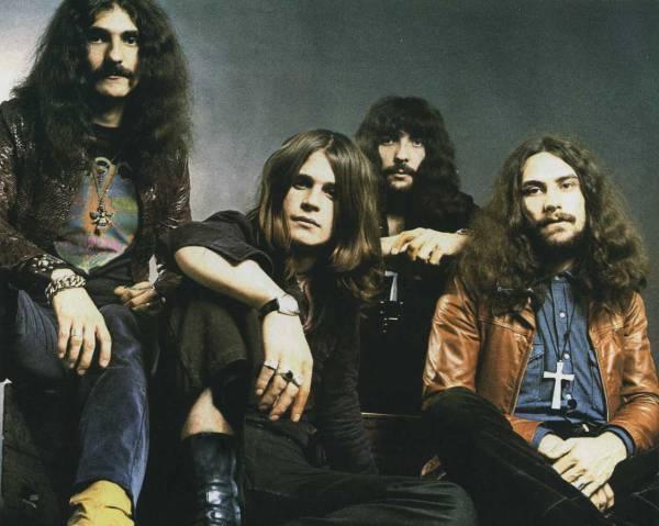 Le groupe Black Sabbath à ses débuts