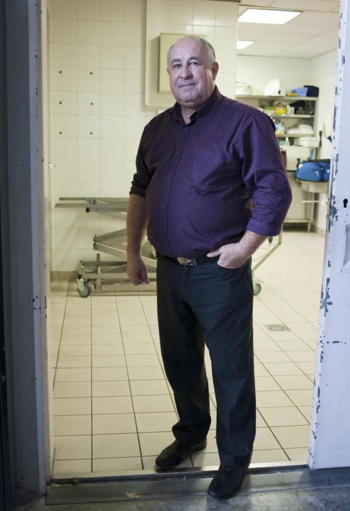 Didier Leveau, thanatopracteur depuis plus de 15 ans.