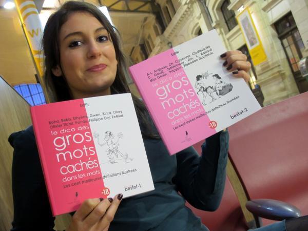 Manon Moncoq, avec les livres réédités (Photo tmv)