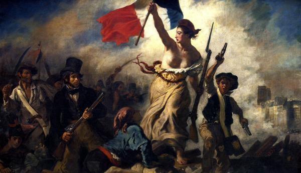 (La Liberté guidant le peuple, d'Eugène Delacroix)