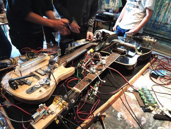 L'atelier organisé par le Temps Machine dans un local du Musée des Beaux-arts de Tours.