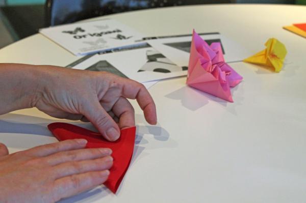 Les origamis sont appréciés par les patients.