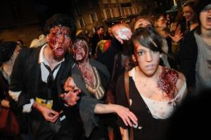 Un exemple de zombie walk (Photo Patrick Lavaud)