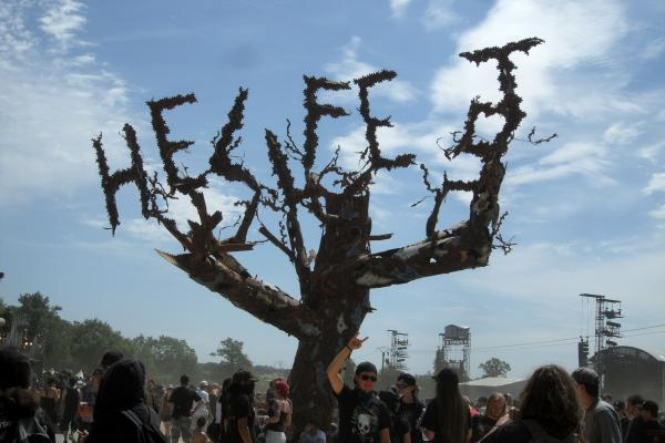 L'arbre Hellfest (Photo Aurélien Germain)
