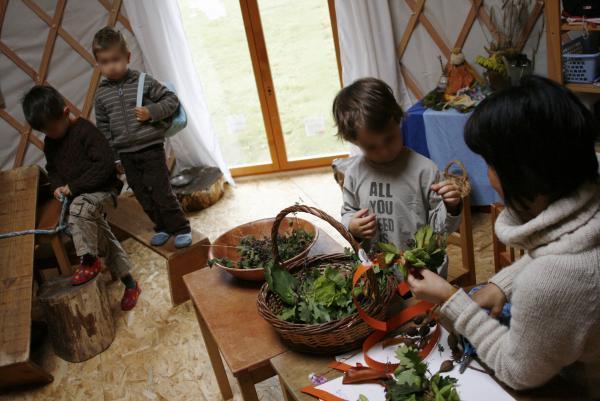 L'école du Petit Pommier fonctionne selon la pédagogie Steiner.
