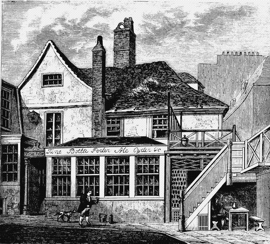 Toten Hall house sur Tottenham Court Road (1813). (Photo Wikipédia)