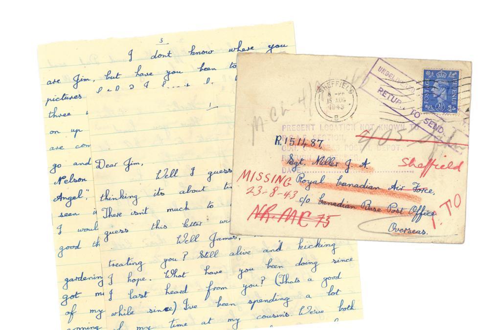 Dernière lettre à Jim Miller, aviateur canadien tué à 19 ans dans un raid sur Berlin.